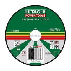 """Круг отрезной 115*1,2*22 мет """" HITACHI"""""""