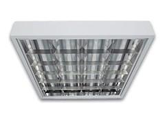 Светильник люминесцентный PRB/S 4x18 зеркальная параболическая решетка