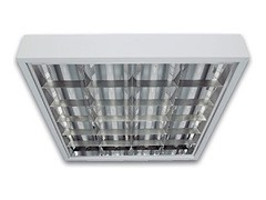 Светильник люминесцентный PRS/R 4x18 встраиваемый призма