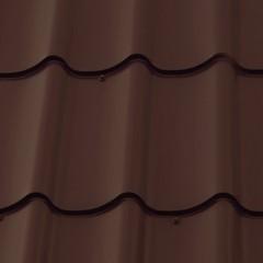 Металлочерепица классик 0,5 Atlas RAL 8017 шоколад