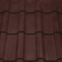 Металлочерепица Kredo 0,5 Velur20 RR 32 темно-коричневый
