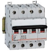 Выключатель автоматический четырехполюсный 40А C TX3 Legrand